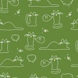 Wzór z kotami jaskrawymi, śmieszny, Obrazy Stock