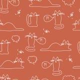 Wzór z kotami jaskrawymi, śmieszny, Zdjęcie Stock