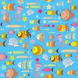 Wzór z kreskówki ryba Zdjęcie Royalty Free