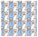 Wzór z krowami i wiadrem mleko ilustracji