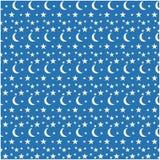 Wzór z księżyc i gwiazdami Obrazy Stock