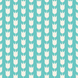 Wzór z kwiatami Bezszwowy tafluje tło Kwieciste wektorowe ikony Fasonuje dekoracyjną tkaninę, opakunkowy papier, sztandar, druk ilustracja wektor