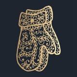 wzór z kwiecistym koronkowym ornamentem dla Bożenarodzeniowej kolekci Fotografia Royalty Free