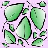 Wzór z liśćmi royalty ilustracja