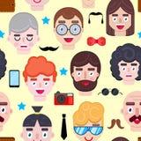 Wzór z mężczyzna twarzami ilustracji