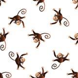 Wzór z małpami ilustracja wektor