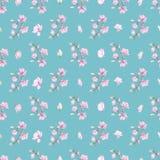 Wzór z małymi magnoliami Fotografia Royalty Free