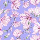 Wzór z magnoliami Fotografia Royalty Free