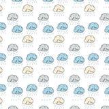 Wzór z śmiesznymi chmurami Obraz Stock