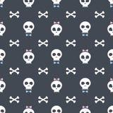 Wzór z śmiesznymi czaszkami Obraz Stock