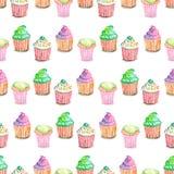 Wzór z muffins Obraz Stock