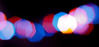 Wzór z nowego roku bokeh światłami Zdjęcie Royalty Free