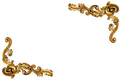 Wzór złocista metal rama Obraz Royalty Free