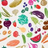 Wzór z owoc i warzywo Zdjęcie Royalty Free