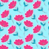 Wzór z papierowymi tulipanami ilustracja wektor