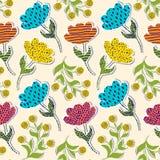 Wzór z papierowymi tulipanami ilustracji