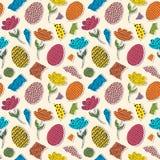 Wzór z papierowymi tulipanami, jajka ilustracji