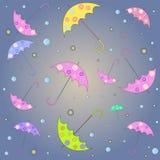 Wzór z parasolami Zdjęcia Royalty Free