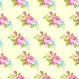 Wzór z pastelowych menchii różami Obrazy Royalty Free