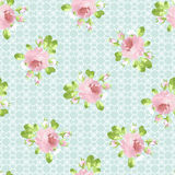 Wzór z pastelowych menchii różami Zdjęcie Royalty Free