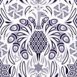 Wzór z pawia i abstrakta kwiatami ilustracji