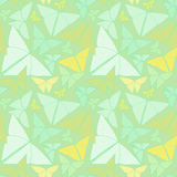 Wzór z piękny origami motyli rysować Bezszwowy bac Zdjęcia Stock