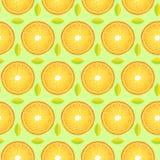 Wzór z pomarańcze liśćmi i plasterkami ilustracji