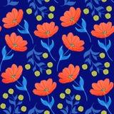 Wzór z pomarańczowymi tulipanami royalty ilustracja