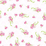 Wzór z różowymi małymi kwiatami Zdjęcie Stock