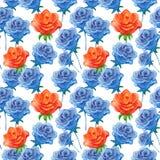 Wzór z różami Zdjęcie Stock