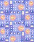 Wzór z różowym gerbera, sercami i polek kropkami, Obraz Stock