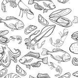 Wzór z setem denni artykuły żywnościowy fotografia royalty free