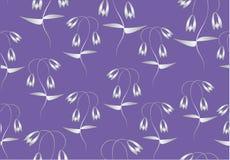 Wzór z srebnymi tulipanami Zdjęcie Royalty Free