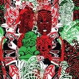 Wzór z stylem maorys Zdjęcia Stock