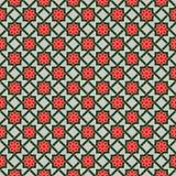 Wzór z Stylizowanymi geometrycznymi kwiatami royalty ilustracja