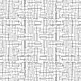 Wzór z symmetric ornamentem Czarne geometryczne postacie abstrakcjonistyczne na białym tle Futurystyczny motyw Tapetowa sztuka Obrazy Stock