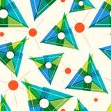 Wzór z trójbokami i cienieje linie ilustracja wektor