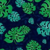 Wzór z Tropikalnym Leaves3-01 Zdjęcia Stock