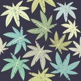 Wzór z tropikalnymi Palmowymi liśćmi Fotografia Royalty Free