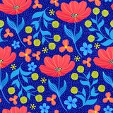 Wzór z tulipanami royalty ilustracja