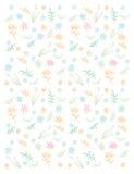 Wzór z wiosna kwiatami Obrazy Stock