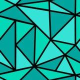 Wzór z zielonym trójbokiem Obrazy Stock