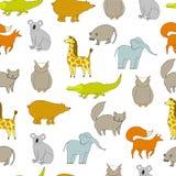 Wzór z zwierzętami Zdjęcia Stock