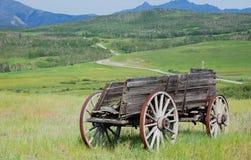 wóz z antykami drewna Zdjęcia Royalty Free