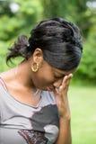 wzburzona kobieta Fotografia Royalty Free