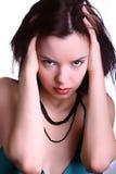 wzburzona kobieta Zdjęcie Stock