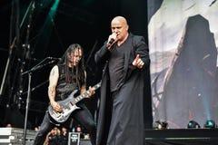 Wzburzony żyje 2016 ciężkich metalband Zdjęcia Stock