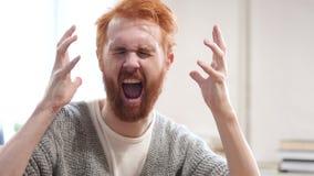 Wzburzony mężczyzna krzyczeć, Iść Szalony zbiory wideo