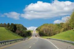 wzdłuż autostrady międzystanowej kierowcy obraz stock