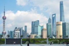 Wzdłuż Bund, Szanghaj, Chiny obraz stock